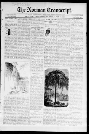 Primary view of object titled 'The Norman Transcript. (Norman, Okla. Terr.), Vol. 08, No. 40, Ed. 1 Friday, July 16, 1897'.