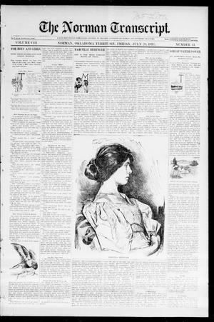 Primary view of object titled 'The Norman Transcript. (Norman, Okla. Terr.), Vol. 08, No. 41, Ed. 1 Friday, July 23, 1897'.