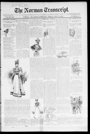 Primary view of object titled 'The Norman Transcript. (Norman, Okla. Terr.), Vol. 08, No. 50, Ed. 1 Friday, September 24, 1897'.