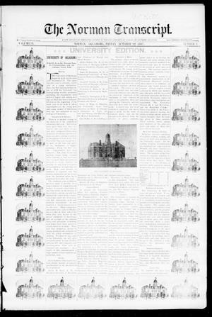 Primary view of object titled 'The Norman Transcript. (Norman, Okla.), Vol. 09, No. 02, Ed. 1 Friday, October 22, 1897'.