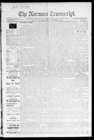 Primary view of object titled 'The Norman Transcript. (Norman, Okla.), Vol. 09, No. 03, Ed. 1 Friday, October 29, 1897'.