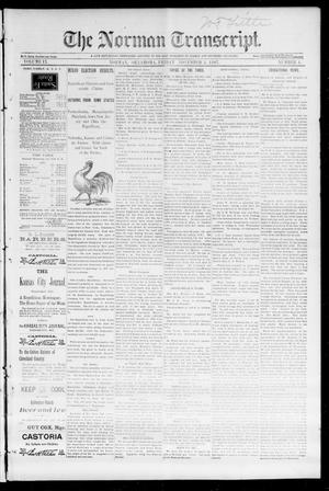 Primary view of object titled 'The Norman Transcript. (Norman, Okla.), Vol. 09, No. 04, Ed. 1 Friday, November 5, 1897'.