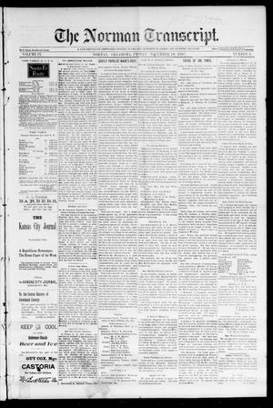 Primary view of object titled 'The Norman Transcript. (Norman, Okla.), Vol. 09, No. 06, Ed. 1 Friday, November 19, 1897'.