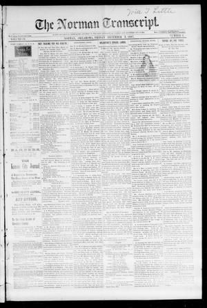 Primary view of object titled 'The Norman Transcript. (Norman, Okla.), Vol. 09, No. 08, Ed. 1 Friday, December 3, 1897'.