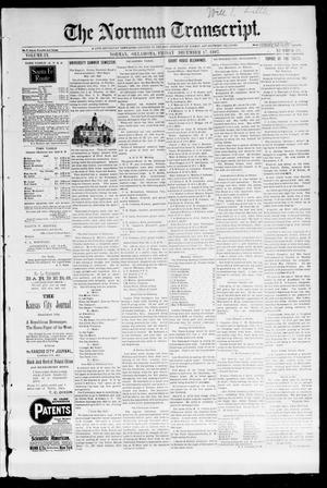 Primary view of object titled 'The Norman Transcript. (Norman, Okla.), Vol. 09, No. 10, Ed. 1 Friday, December 17, 1897'.