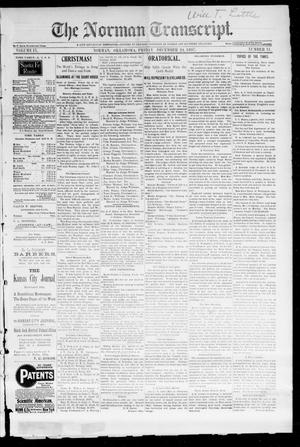 Primary view of object titled 'The Norman Transcript. (Norman, Okla.), Vol. 09, No. 11, Ed. 1 Friday, December 24, 1897'.