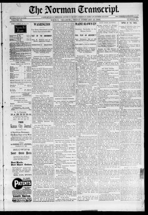 Primary view of object titled 'The Norman Transcript. (Norman, Okla.), Vol. 09, No. 19, Ed. 1 Friday, February 18, 1898'.