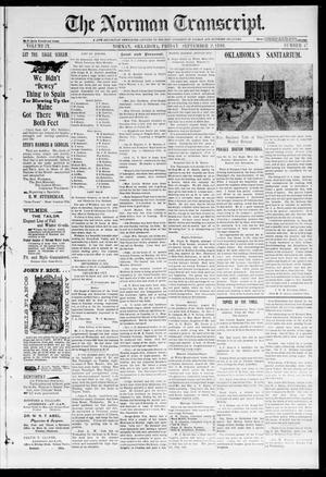 Primary view of object titled 'The Norman Transcript. (Norman, Okla.), Vol. 09, No. 47, Ed. 1 Friday, September 2, 1898'.