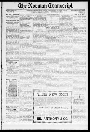 Primary view of object titled 'The Norman Transcript. (Norman, Okla.), Vol. 09, No. 48, Ed. 1 Friday, September 9, 1898'.