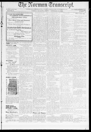 Primary view of object titled 'The Norman Transcript. (Norman, Okla.), Vol. 09, No. 50, Ed. 1 Friday, September 30, 1898'.