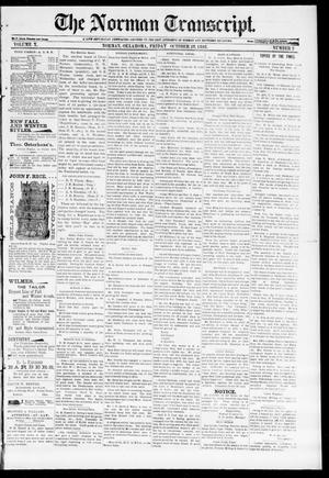Primary view of object titled 'The Norman Transcript. (Norman, Okla.), Vol. 10, No. 02, Ed. 1 Friday, October 28, 1898'.