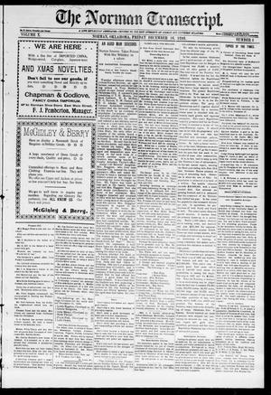 Primary view of object titled 'The Norman Transcript. (Norman, Okla.), Vol. 10, No. 09, Ed. 1 Friday, December 16, 1898'.