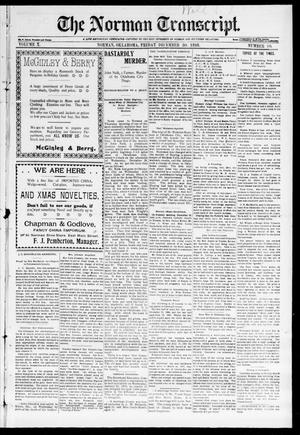 Primary view of object titled 'The Norman Transcript. (Norman, Okla.), Vol. 10, No. 11, Ed. 1 Friday, December 30, 1898'.