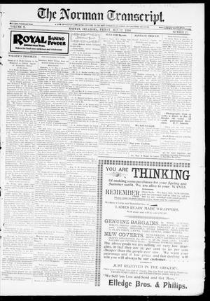 Primary view of object titled 'The Norman Transcript. (Norman, Okla.), Vol. 10, No. 27, Ed. 1 Friday, May 12, 1899'.