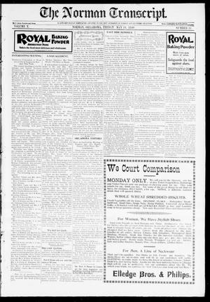 Primary view of object titled 'The Norman Transcript. (Norman, Okla.), Vol. 10, No. 28, Ed. 1 Friday, May 19, 1899'.
