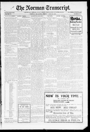 Primary view of The Norman Transcript. (Norman, Okla.), Vol. 10, No. 38, Ed. 1 Friday, July 28, 1899