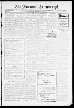 Primary view of object titled 'The Norman Transcript. (Norman, Okla.), Vol. 10, No. 47, Ed. 1 Friday, October 6, 1899'.