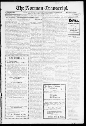 Primary view of object titled 'The Norman Transcript. (Norman, Okla.), Vol. 10, No. 51, Ed. 1 Thursday, November 2, 1899'.