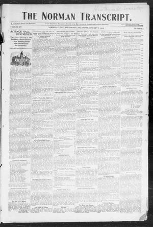 Primary view of object titled 'The Norman Transcript. (Norman, Okla.), Vol. 14, No. 09, Ed. 1 Thursday, January 8, 1903'.