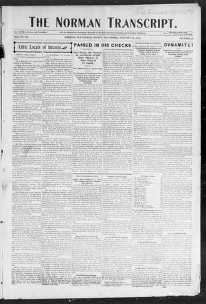 Primary view of object titled 'The Norman Transcript. (Norman, Okla.), Vol. 14, No. 10, Ed. 1 Thursday, January 15, 1903'.