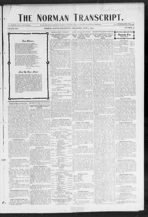 Primary view of object titled 'The Norman Transcript. (Norman, Okla.), Vol. 14, No. 30, Ed. 1 Thursday, June 4, 1903'.