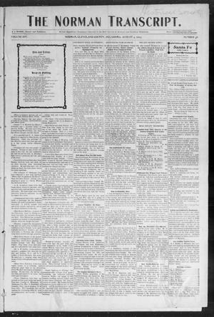 Primary view of object titled 'The Norman Transcript. (Norman, Okla.), Vol. 14, No. 38, Ed. 1 Tuesday, August 4, 1903'.