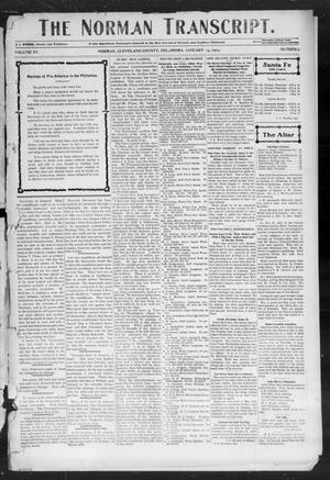 Primary view of object titled 'The Norman Transcript. (Norman, Okla.), Vol. 15, No. 09, Ed. 1 Thursday, January 14, 1904'.