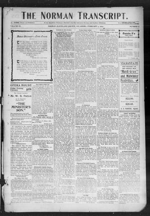 Primary view of object titled 'The Norman Transcript. (Norman, Okla.), Vol. 15, No. 13, Ed. 1 Thursday, February 11, 1904'.