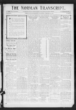 Primary view of object titled 'The Norman Transcript. (Norman, Okla.), Vol. 15, No. 15, Ed. 1 Thursday, February 25, 1904'.