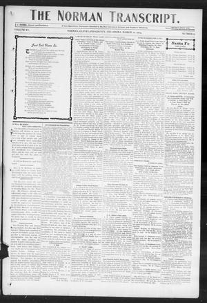 Primary view of object titled 'The Norman Transcript. (Norman, Okla.), Vol. 15, No. 17, Ed. 1 Thursday, March 10, 1904'.