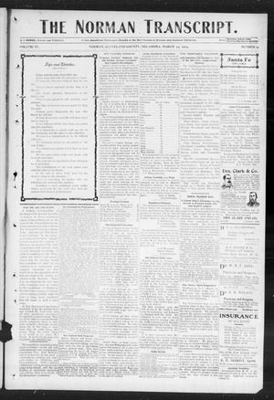 Primary view of object titled 'The Norman Transcript. (Norman, Okla.), Vol. 15, No. 19, Ed. 1 Thursday, March 24, 1904'.