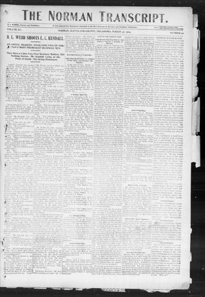 Primary view of object titled 'The Norman Transcript. (Norman, Okla.), Vol. 15, No. 20, Ed. 1 Thursday, March 31, 1904'.