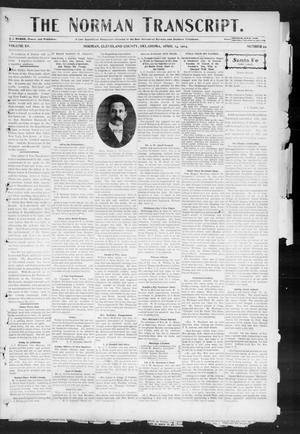 Primary view of object titled 'The Norman Transcript. (Norman, Okla.), Vol. 15, No. 22, Ed. 1 Thursday, April 14, 1904'.