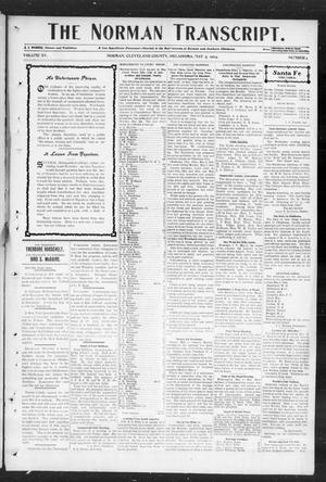 Primary view of object titled 'The Norman Transcript. (Norman, Okla.), Vol. 15, No. 26, Ed. 1 Thursday, May 5, 1904'.