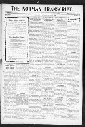 Primary view of object titled 'The Norman Transcript. (Norman, Okla.), Vol. 15, No. 27, Ed. 1 Thursday, May 12, 1904'.
