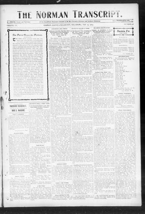 Primary view of object titled 'The Norman Transcript. (Norman, Okla.), Vol. 15, No. 28, Ed. 1 Thursday, May 19, 1904'.