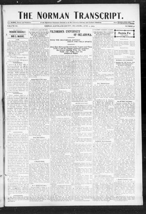Primary view of object titled 'The Norman Transcript. (Norman, Okla.), Vol. 15, No. 30, Ed. 1 Thursday, June 2, 1904'.