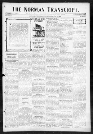 Primary view of object titled 'The Norman Transcript. (Norman, Okla.), Vol. 15, No. 32, Ed. 1 Thursday, June 16, 1904'.