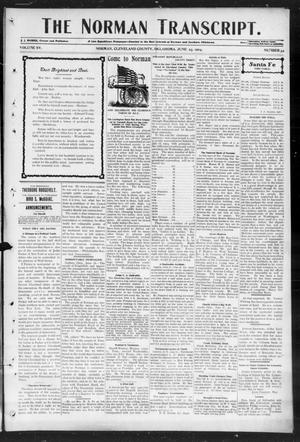 Primary view of object titled 'The Norman Transcript. (Norman, Okla.), Vol. 15, No. 34, Ed. 1 Thursday, June 23, 1904'.