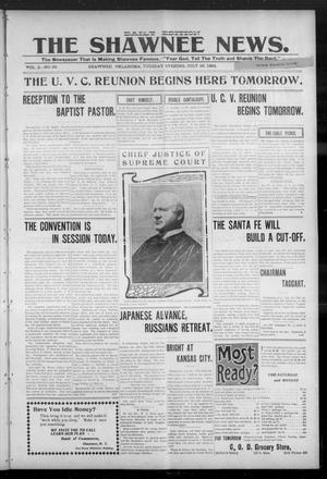 Primary view of The Shawnee News. (Shawnee, Okla.), Vol. 3, No. 68, Ed. 1 Tuesday, July 26, 1904