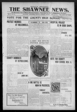Primary view of object titled 'The Shawnee News. (Shawnee, Okla.), Vol. 3, No. 73, Ed. 1 Monday, August 1, 1904'.