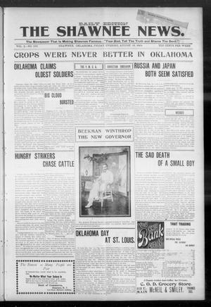 Primary view of object titled 'The Shawnee News. (Shawnee, Okla.), Vol. 3, No. 163, Ed. 1 Friday, August 19, 1904'.