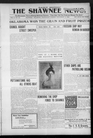 Primary view of object titled 'The Shawnee News. (Shawnee, Okla.), Vol. 3, No. 185, Ed. 1 Wednesday, September 14, 1904'.
