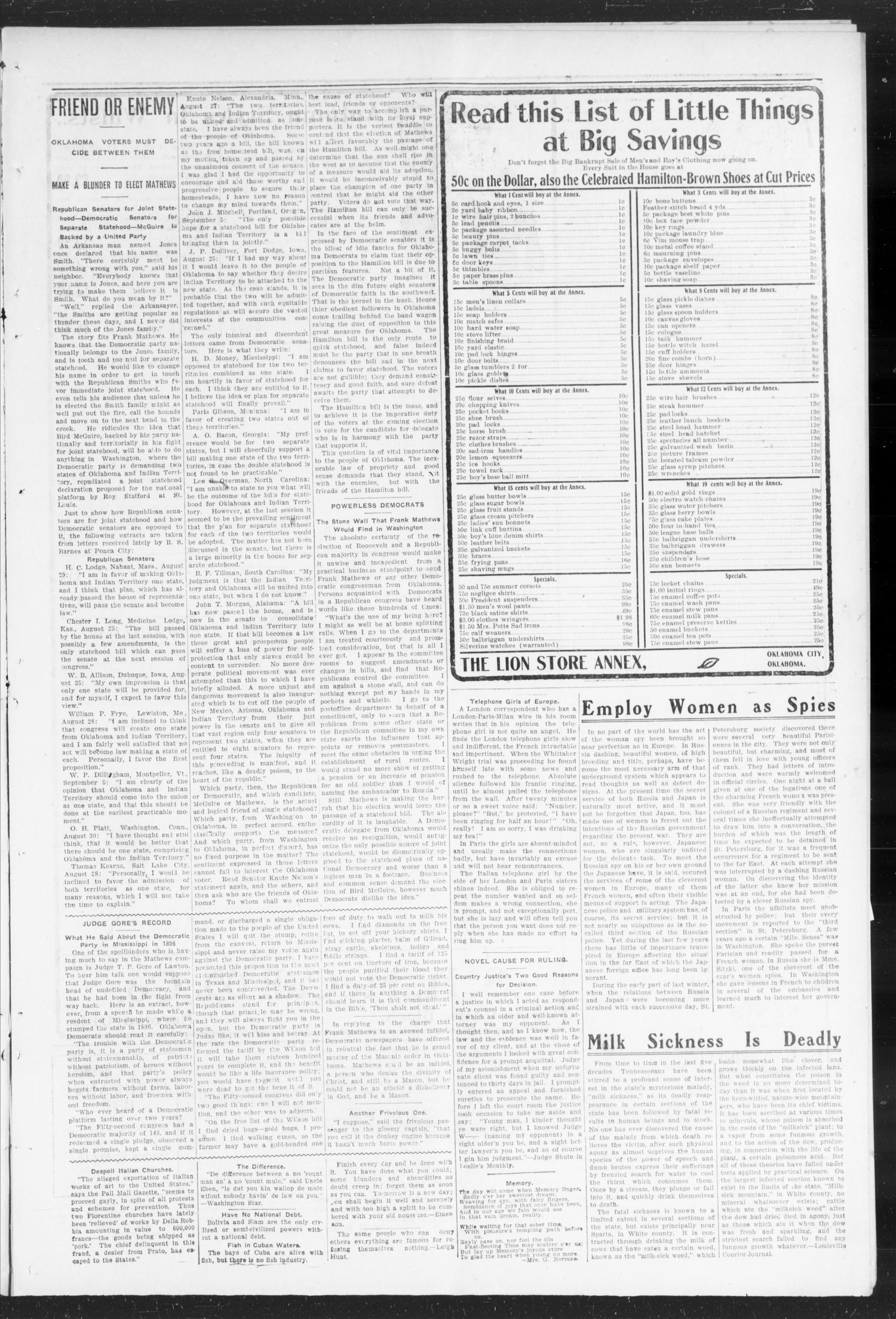 The Norman Transcript. (Norman, Okla.), Vol. 15, No. 49, Ed. 1 Thursday, October 6, 1904                                                                                                      [Sequence #]: 3 of 10