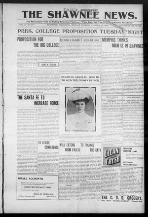 Primary view of object titled 'The Shawnee News. (Shawnee, Okla.), Vol. 3, No. 207, Ed. 1 Monday, October 10, 1904'.