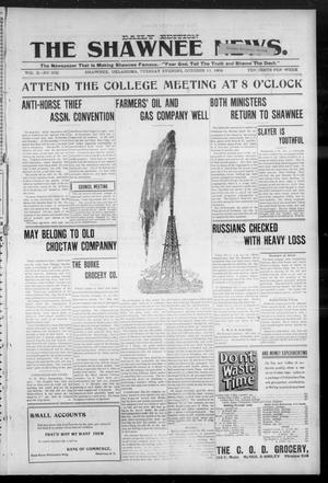 Primary view of object titled 'The Shawnee News. (Shawnee, Okla.), Vol. 3, No. 208, Ed. 1 Tuesday, October 11, 1904'.