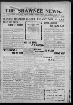 Primary view of object titled 'The Shawnee News. (Shawnee, Okla.), Vol. 5, No. 18, Ed. 1 Friday, May 5, 1905'.