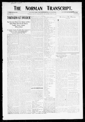 Primary view of object titled 'The Norman Transcript. (Norman, Okla.), Vol. 16, No. 29, Ed. 1 Thursday, May 18, 1905'.