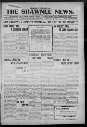 Primary view of object titled 'The Shawnee News. (Shawnee, Okla.), Vol. 5, No. 34, Ed. 1 Wednesday, May 24, 1905'.