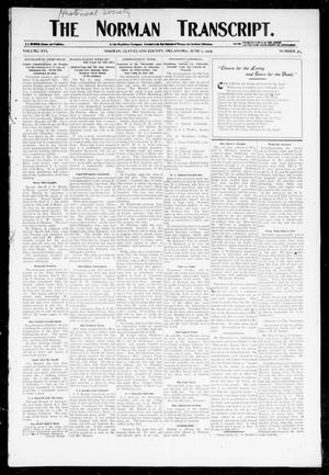 Primary view of object titled 'The Norman Transcript. (Norman, Okla.), Vol. 16, No. 31, Ed. 1 Thursday, June 1, 1905'.